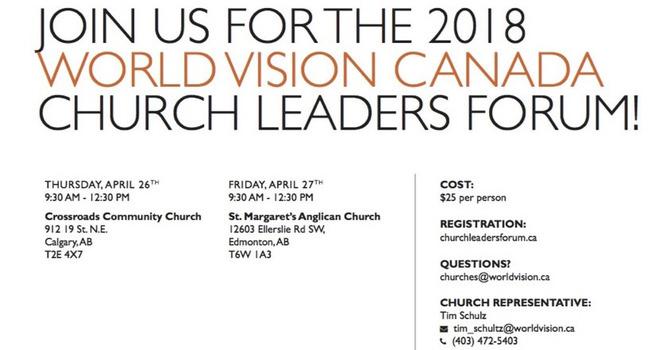 World Vision Church Leaders Forum