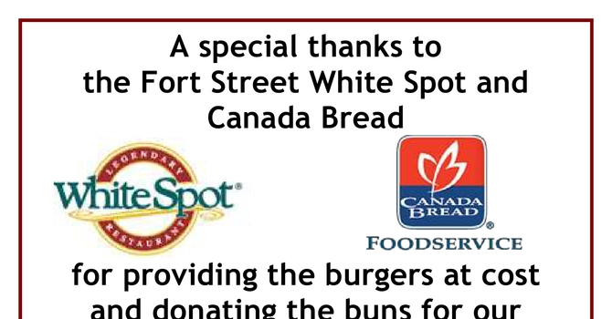 Thank You to White Spot and Canada Bread image