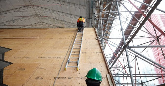 Cathedral Makes Progress on Zinc Roof image
