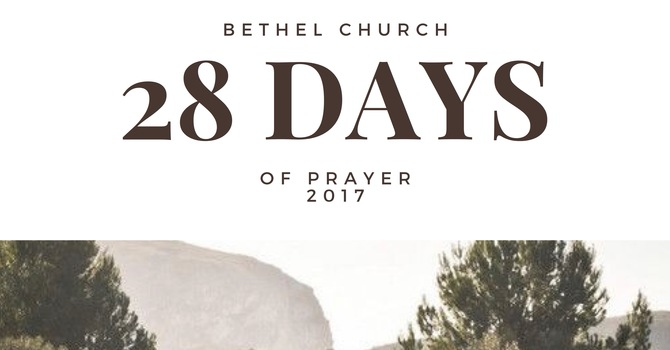 28 Days of Prayer 2017 image