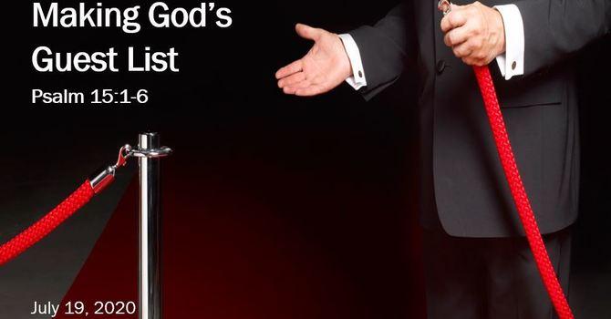 Making God's Guest List