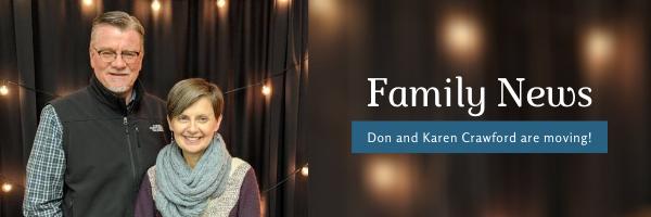 News from Don & Karen Crawford