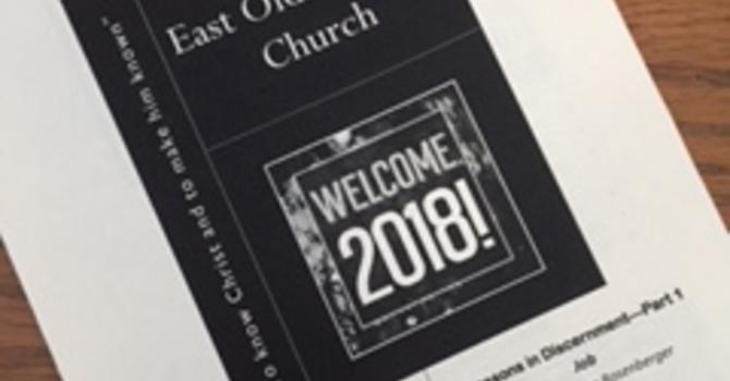 January 7, 2018 Church Bulletin image