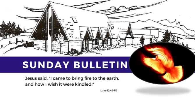 Bulletin - Sunday, August 18th, 2019