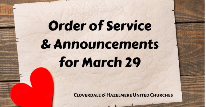 Order of Service & Announcements