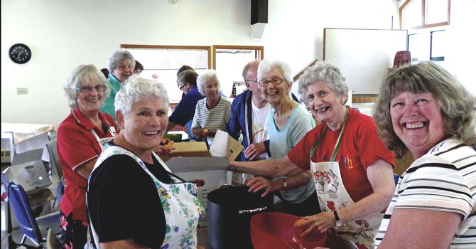 Making the Mincemeat at St. Bart's, Gibson's Landing image