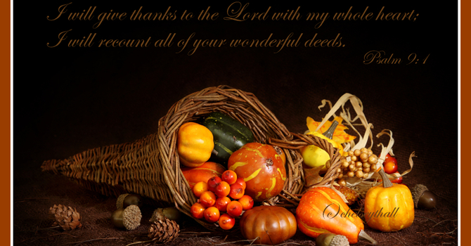 Harvest Thanksgiving Display - October 13th 2019 image