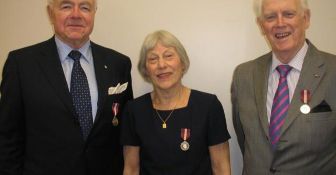 Queen Elizabeth Jubilee Medal Recipients at St. Christopher's, West Vancouver image