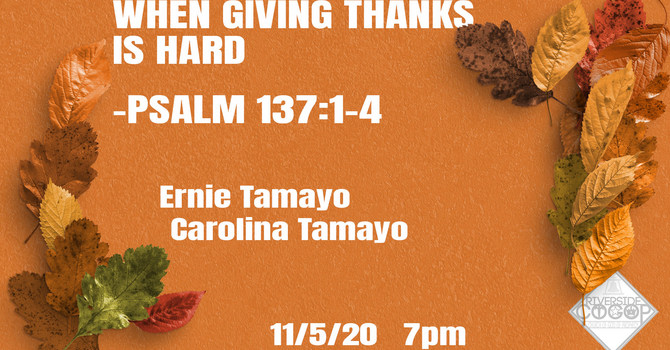 When Giving Thanks is Hard