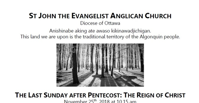 The Last Sunday after Pentecost: The Reign of Christ