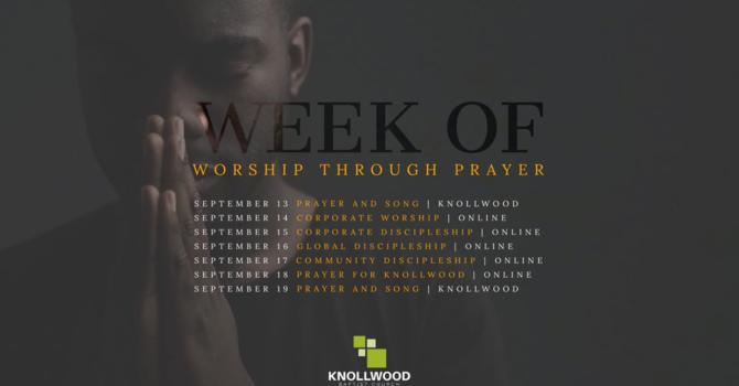 Week of Worship Through Prayer image