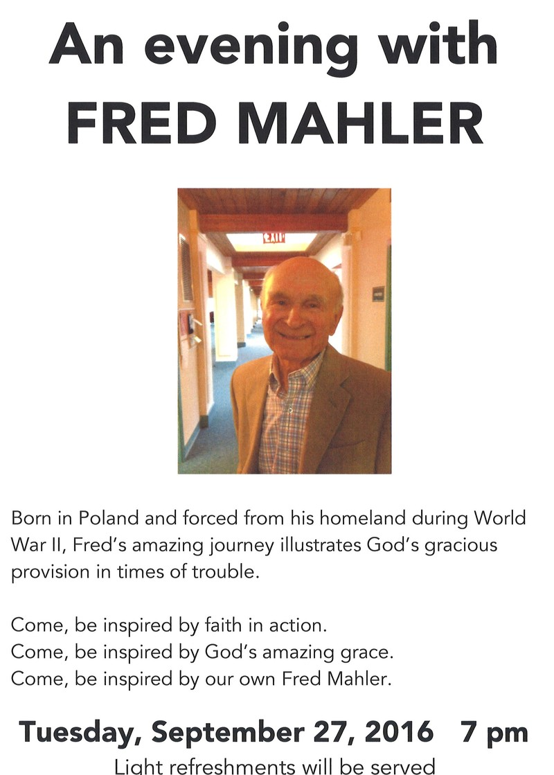 An Evening with Fred Mahler