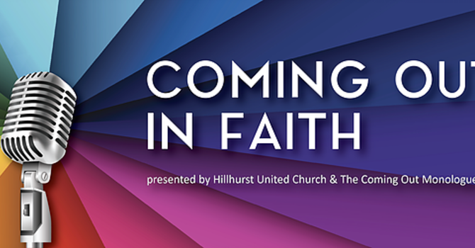 Coming Out in Faith Monologue - Hillhurst United Church image