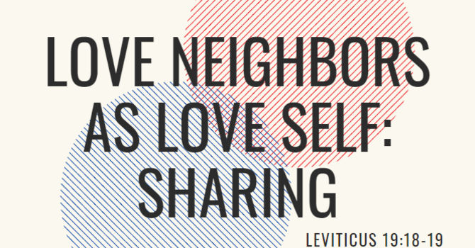 Sharing Service - Love Neighbors as Love Self