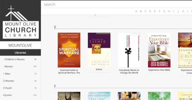 Church Library Now Online