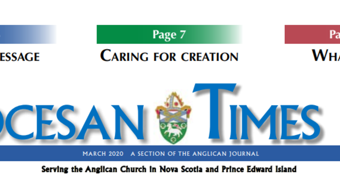 DIOCESAN TIMES - March 2020 image