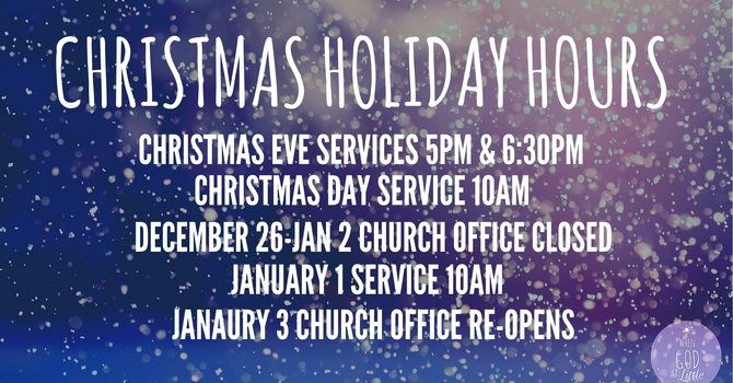 Christmas Holiday Hours image