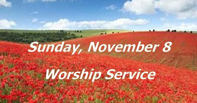 Sunday, November 8 Worship Service image