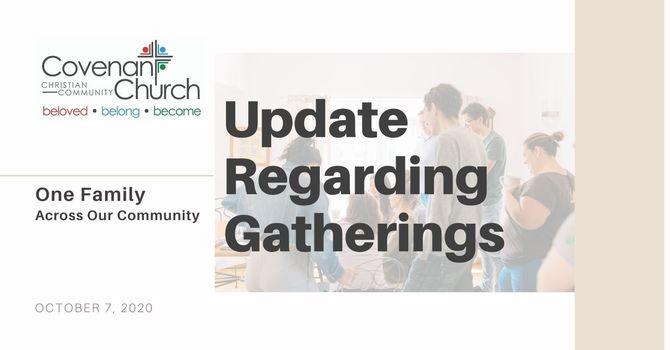 Important Update Regarding Gatherings image