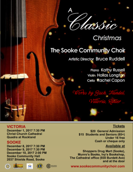 Sooke Community Choir Christmas Concert