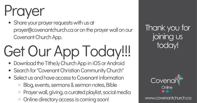 Covenant Online - Sunday Service