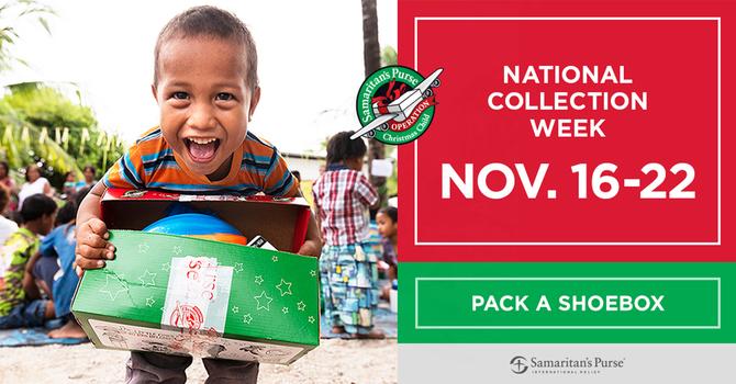 Operation Christmas Child Shoeboxes 2020 image