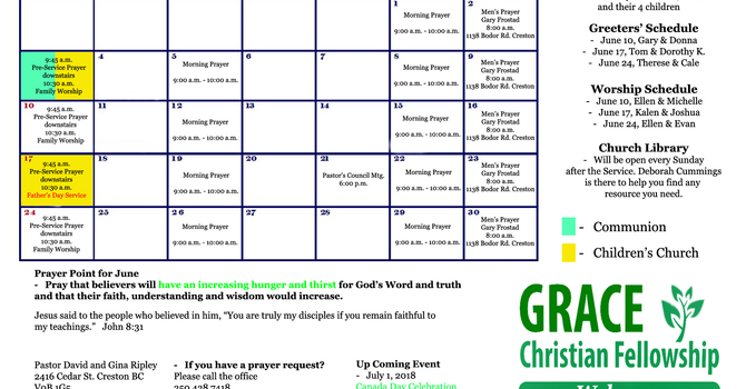 Our Bulletin for the month of June image