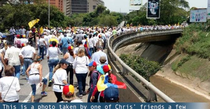 Hiebert's Update - Pray for Caracas image