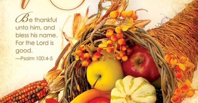 Bulletin: Harvest Thanksgiving image