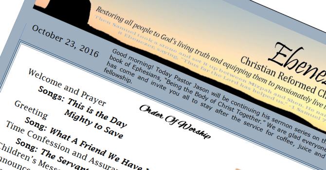 October 23, 2016 Bulletin image