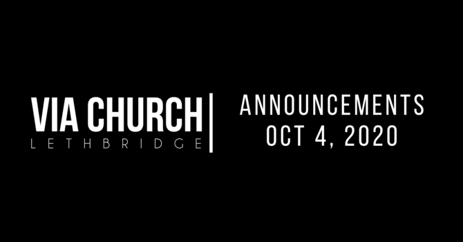 Announcements Oct 4, 2020 image