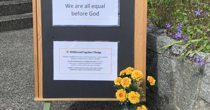 Pray and pledge to the values of inclusion, diversity and opposing racism image
