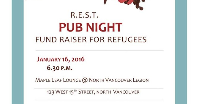 PUB NIGHT Fundraiser for Refugees