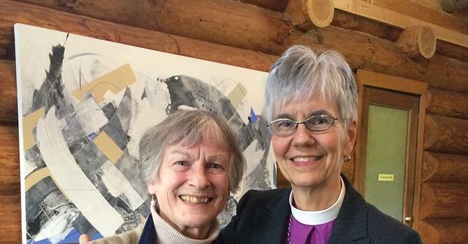 Bishop and Métis Elder Meet for Tea in Mission image