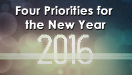 Four Priorities for the New Year