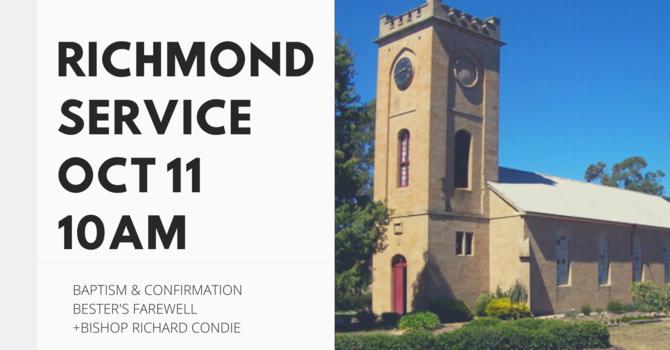 Baptism, Confirmation & Farewell - Richmond 10am Oct 11th  image