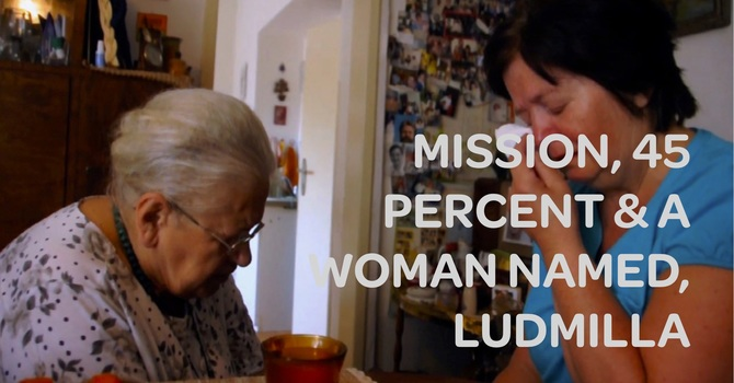 Mission, 45 Percent and a Woman Named, Ludmilla image