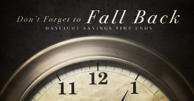 Daylight Savings Time Ends! image