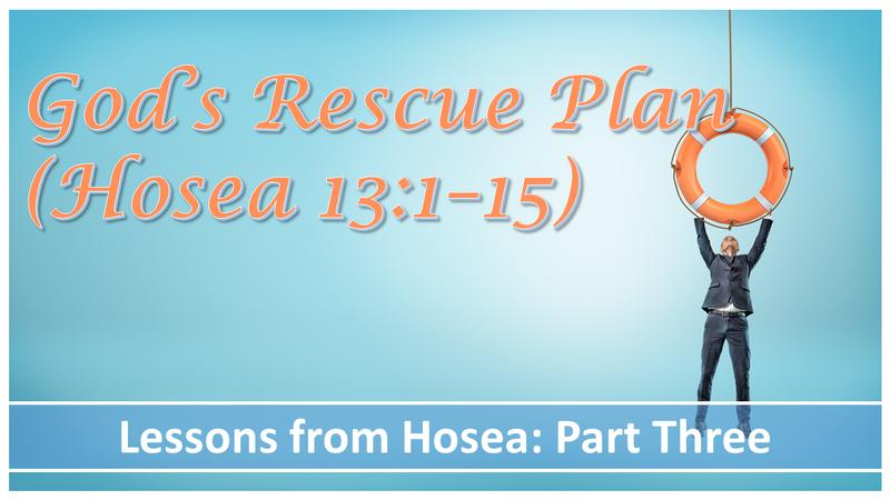 God's Rescue Plan