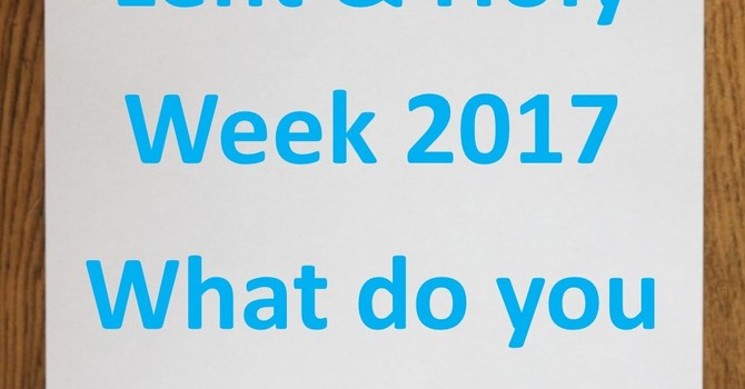Lent and Holy Week Input Form image