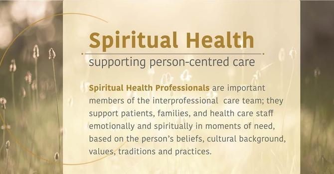 SPIRITUAL HEALTH CARE WEEK image