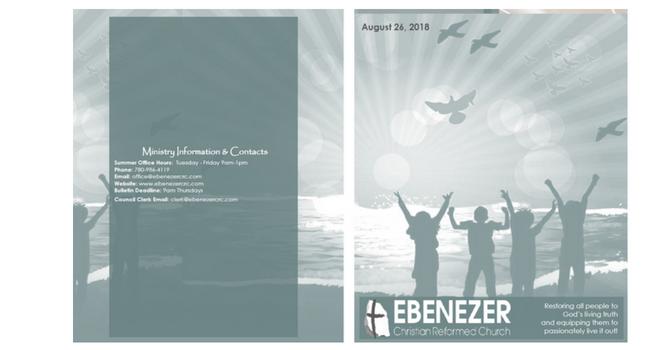 August 26, 2018 Bulletin image