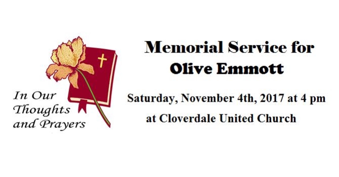 Memorial Service for Olive Emmott image