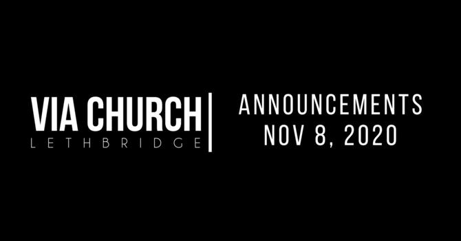 Announcements - Nov 1, 2020 image
