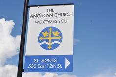 St agnes sign closeup