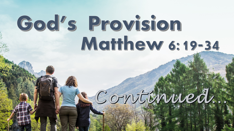 God's Provision (Continued)