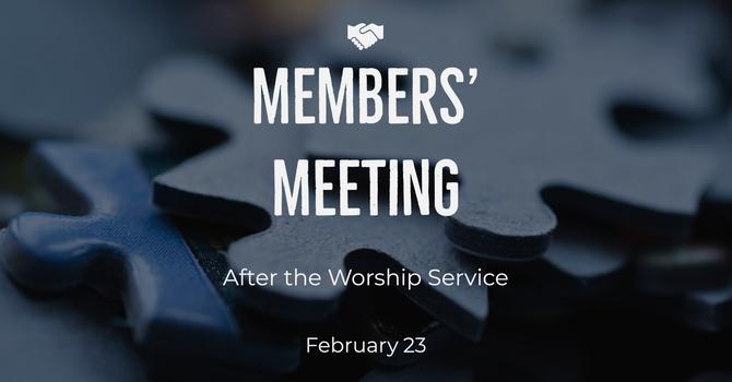 Annual Members' Meeting image