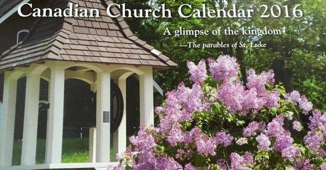 Canadian Church Calendar 2016 image