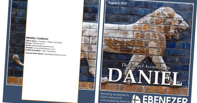August 6, 2017 Bulletin image