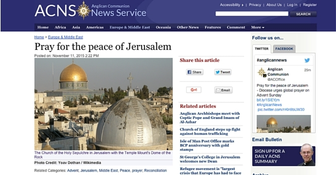 Pray for the peace of Jerusalem image